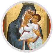 Our Lady Of Mount Carmel - Rlolc Round Beach Towel
