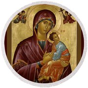 Our Lady Of Perpetual Help - Rloph Round Beach Towel