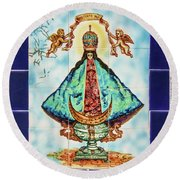 Our Lady Of San Juan IIi Round Beach Towel