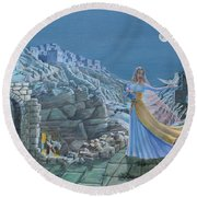 Our Lady Queen Of Peace Round Beach Towel