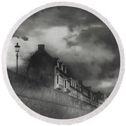 Round Beach Towel featuring the photograph Our Lady Wall Maastricht by Nop Briex