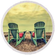 Our Last Summer Round Beach Towel