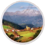 Our Little Switzerland Round Beach Towel
