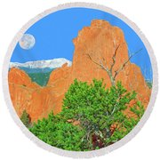 Our Majestic, Opalescent Colorado, Like No Other Place On Earth Round Beach Towel by Bijan Pirnia