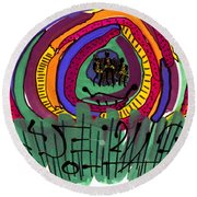 Our Own Colorful World II Round Beach Towel by Angela L Walker
