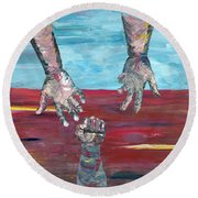 Our Sense Of Peace Is Only As Secure As Our Grasp Of Grace Round Beach Towel