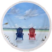 Our Spot On Siesta Key Round Beach Towel