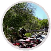 Round Beach Towel featuring the photograph Ourika Valley 1 by Andrew Fare