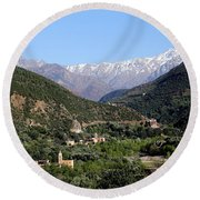 Round Beach Towel featuring the photograph Ourika Valley 2 by Andrew Fare