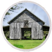 Out By The Barn Round Beach Towel by Laura Ragland