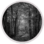 Out From The Darkness Round Beach Towel