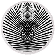 Out From Within Round Beach Towel