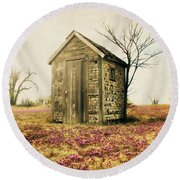 Round Beach Towel featuring the photograph Outhouse by Julie Hamilton
