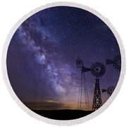 Our Milky Way  Round Beach Towel