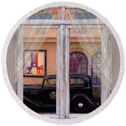 Round Beach Towel featuring the photograph Out My Window - Paris by Jeff Burgess