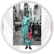 Out Of Frame Round Beach Towel