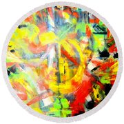 Out Of Order Round Beach Towel
