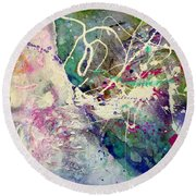 Out Of Site, Out Of Mind Round Beach Towel