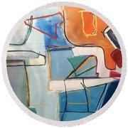 Out Of Sorts Round Beach Towel