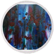 Out Of The Blue  Round Beach Towel