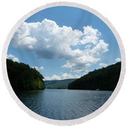 Out Of The Cove Round Beach Towel by Donald C Morgan