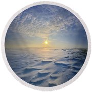 Round Beach Towel featuring the photograph Out Of The East by Phil Koch