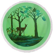 Out Of The Forest Round Beach Towel