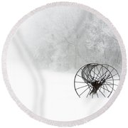Out Of The Mist A Forgotten Era 2014 Round Beach Towel