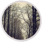 Out Of The Soil - Into The Forest Round Beach Towel