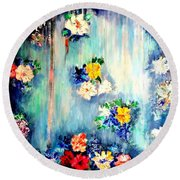Out Of Time II Round Beach Towel
