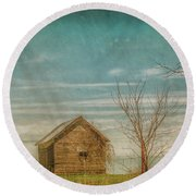 Out On The Farm Round Beach Towel