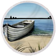 Out On The Water Round Beach Towel