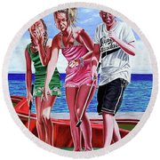Out Round Beach Towel