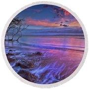 Out To Sea Round Beach Towel by James Roemmling