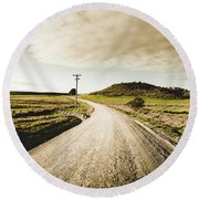 Outback Gravel Track Round Beach Towel