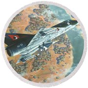 Outback Mirage Round Beach Towel