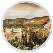 Outback Obsolescence  Round Beach Towel