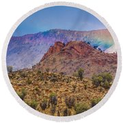 Outback Rainbow Round Beach Towel