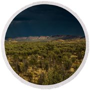 Outback Storm Round Beach Towel by Racheal Christian
