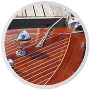 Outboard Runabout Round Beach Towel