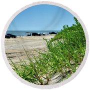 Outer Banks Round Beach Towel