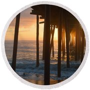 Outer Banks Pier 7/6/18 Round Beach Towel