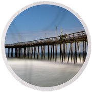Outer Banks Pier Round Beach Towel