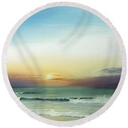 East Coast Sunrise Round Beach Towel