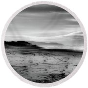 Outer Sunset Ocean Beach San Francisco Round Beach Towel by Kandy Hurley