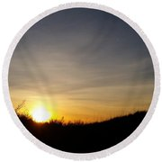Outerbanks Morning Round Beach Towel by Mark Minier