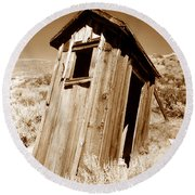 Outhouse At Bodie Round Beach Towel
