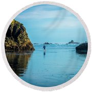 Outing In Ruby Beach,wa Round Beach Towel