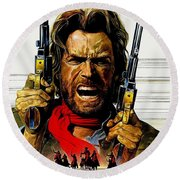 Outlaw Josey Wales The Round Beach Towel