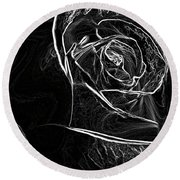 Round Beach Towel featuring the photograph Outline Of A Rose by Micah May